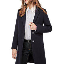 Buy Gerard Darel Galeria Collared Coat, Blue Online at johnlewis.com