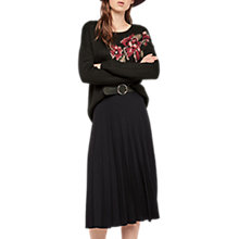 Buy Gerard Darel Gentle Flare Pleated Midi Skirt, Black Online at johnlewis.com