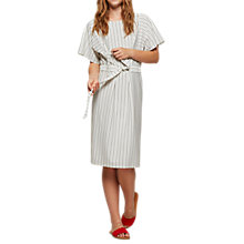 Buy Miss Selfridge Self Tie Stripe Midi Dress, Multi Online at johnlewis.com