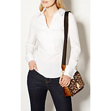 Buy Karen Millen The Essentials Tailored Wrap Shirt, White Online at johnlewis.com