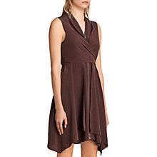 Buy AllSaints Jayda Dress, Red Brown Online at johnlewis.com