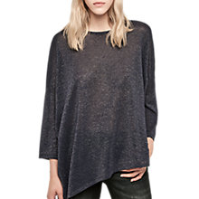 Buy Gerard Darel Luna Oversized Metallic Jumper, Blue Online at johnlewis.com