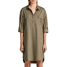 Buy AllSaints Lamont Shirt Dress, Khaki Online at johnlewis.com
