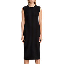 Buy AllSaints Kait Dress, Ink Blue/Black Online at johnlewis.com