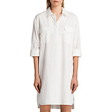 Buy AllSaints Lamont Shirt Dress, White Online at johnlewis.com