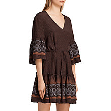 Buy AllSaints Flori Anokhi Dress, Burgundy/Multi Online at johnlewis.com