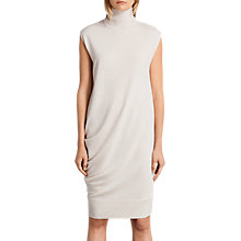 Buy AllSaints Demi Sleeveless Turtleneck Knee Length Dress, White Online at johnlewis.com