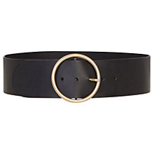 Buy Gerard Darel Jocelyne Large Leather Belt, Black Online at johnlewis.com