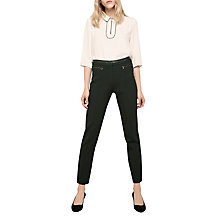 Buy Gerard Darel Metallic Detail Smart Trousers, Black Online at johnlewis.com
