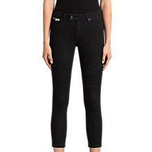 Buy AllSaints Biker Cropped Jeans, Washed Black Online at johnlewis.com