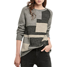 Buy Gerard Darel Colour Block Jumper, Grey Online at johnlewis.com