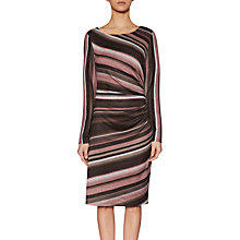 Buy Gina Bacconi Isabel Warm Handle Stripe Dress, Dusty Pink Online at johnlewis.com