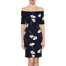 Buy Gina Bacconi Julia Floral Print Dress, Navy Online at johnlewis.com