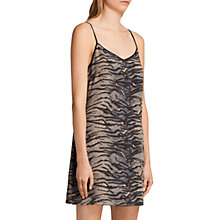Buy AllSaints Ashlee Tiger Print Slip Dress, Neutral/Black Online at johnlewis.com