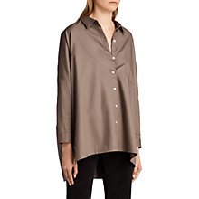 Buy AllSaints Valdes Shirt, Khaki Green Online at johnlewis.com