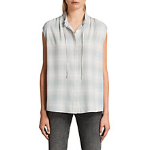 Buy AllSaints Raya Check Shirt, White/Blue Online at johnlewis.com