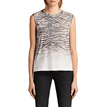 Buy AllSaints Tygr Elm Vest Top, Porcelain White Online at johnlewis.com