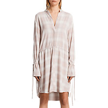 Buy AllSaints Check Florence Shirt Dress, Pink Check Online at johnlewis.com