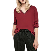 Buy Gerard Darel Blondie Blouse, Red Online at johnlewis.com