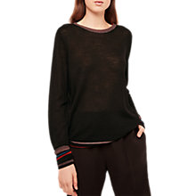 Buy Gerard Darel Laureen Metallic Detail Jumper, Black Online at johnlewis.com