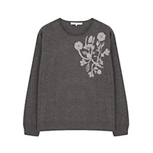 Buy Gerard Darel Floral Motif Jumper, Dark Grey Online at johnlewis.com