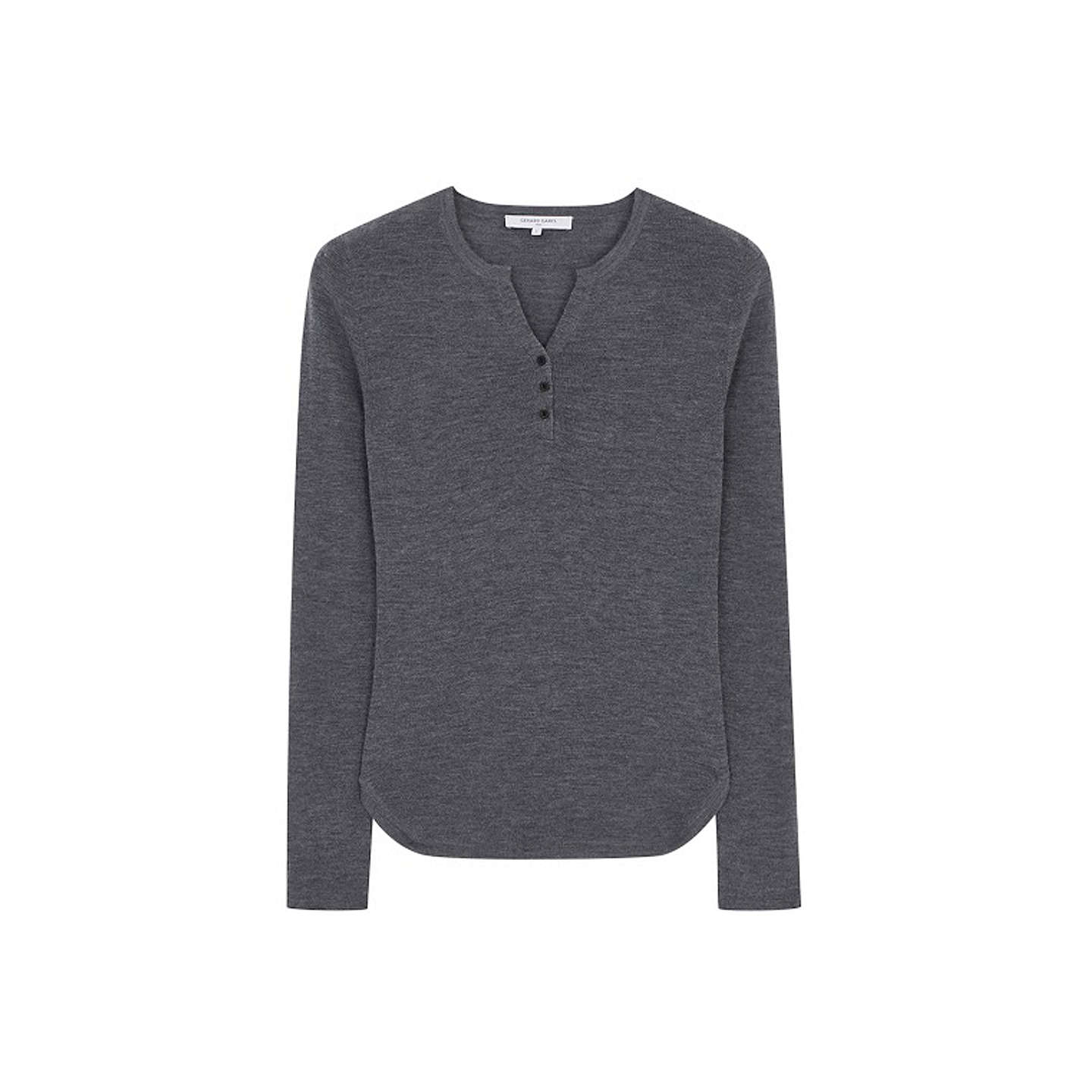 BuyGerard Darel V-Neck Wool Pullover T-Shirt, Grey, 8-10 Online at johnlewis.com