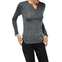 Buy Gerard Darel V-Neck Wool Pullover T-Shirt, Grey Online at johnlewis.com