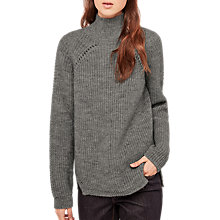 Buy Gerard Darel Chunky Ribbed Jumper, Grey Online at johnlewis.com