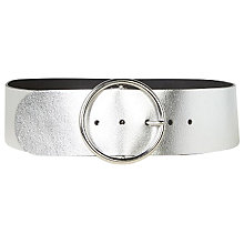 Buy Gerard Darel Circle Buckle Belt, Silver Online at johnlewis.com