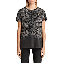 Buy AllSaints Fadeout Tyger Joy T-Shirt, Black/Neutral Online at johnlewis.com