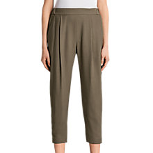 Buy AllSaints Aleida Trousers, Khaki Green Online at johnlewis.com