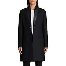 Buy AllSaints Leni Long Sleeve Tailored Coat, Ink Blue Online at johnlewis.com