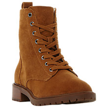 Buy Steve Madden Officer Lace Up Ankle Boots Online at johnlewis.com