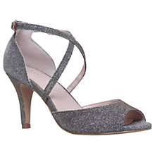 Buy Carvela Koko Cross Strap Cone Heeled Sandals, Bronze Online at johnlewis.com