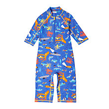 Buy John Lewis Boys' Underwater Print SunPro Suit, Blue Online at johnlewis.com