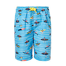 Buy John Lewis Boys' Surfer Print Swimming Shorts, Blue Online at johnlewis.com