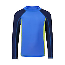 Buy John Lewis Boys' Colour Block Rashie, Blue Online at johnlewis.com