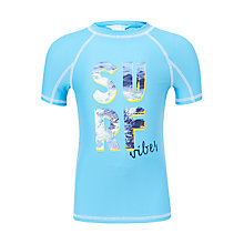 Buy John Lewis Boys' Surf Vibes Rashie, Blue Online at johnlewis.com