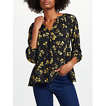 Buy Collection WEEKEND by John Lewis Artist Brush Stroke Print Top, Black/Yellow Online at johnlewis.com
