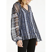 Buy AND/OR Francis Print Top, Blue/Multi Online at johnlewis.com