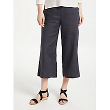 Buy John Lewis Cropped Wide Leg Linen Trousers Online at johnlewis.com