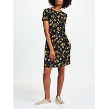 Buy Collection WEEKEND by John Lewis Artist Brush Stroke Print Dress, Black/Yellow Online at johnlewis.com