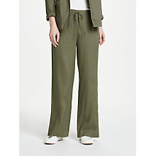 Buy John Lewis Wide Leg Linen Trousers Online at johnlewis.com