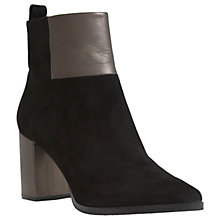 Buy Mint Velvet Aria Block Heeled Ankle Boot, Black Online at johnlewis.com