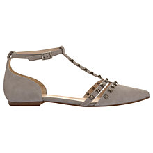 Buy Mint Velvet Julie Studded T-Bar Pumps, Grey Online at johnlewis.com