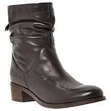 Buy Dune Pagers Block Heeled Ankle Boots, Black Online at johnlewis.com