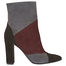 Buy Mint Velvet Abigail High Block Heeled Ankle Boots, Dark Red Online at johnlewis.com