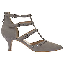 Buy Mint Velvet Louise Studded Triple Strap T-Bar Court Shoes Online at johnlewis.com