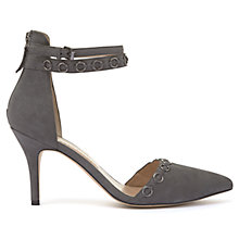 Buy Mint Velvet Lacey Double Strap Court Shoes, Dark Grey Online at johnlewis.com