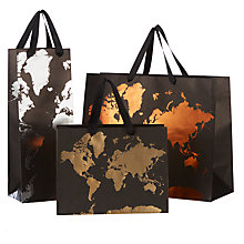 Buy John Lewis Kraft Map Gift Bag Online at johnlewis.com